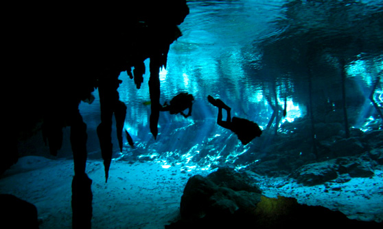 Unterwasserhöhle in Mallorca